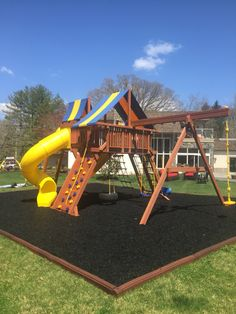 Why not try to touch the sky with The Superior Play Systems Extreme Playcenter Combo 5!! We just installed this system in Delaware, and they cannot wait to enjoy it year round with the Safer Play Zone of rubber mulch and border curbs. You can see all the options we have at www.superiorplay.com and choose the system that is best for you and your family.
