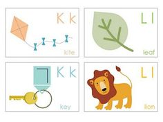 free printable alphabet cards - two cards for each letter