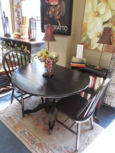 Small Drop Leaf with 2-Chairs $69.00 - Consign It! Consignment Furniture