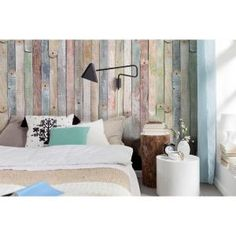 Komar, 100 in. x 72 in. Vintage Wood Wall Mural, 4-910 at The Home Depot - Mobile