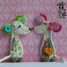 Crochet mouse applique Pattern by Vendula Maderska