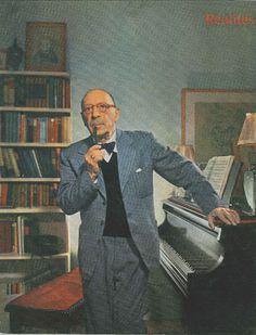 Igor Stravinsky, compositeur et chef d'orchestre de musique moderne, photographié par Yusuf Karsh (1956) - Réalités n°186, juillet 1961.