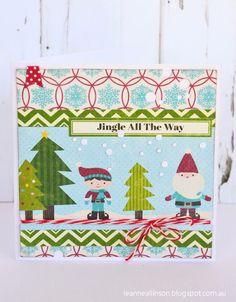 Leanne Allinson- Jingle card via Jillibean Soup Blog