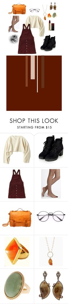 """""""Untitled #21"""" by catharina-skaerbaek ❤ liked on Polyvore featuring Uniqlo, Hollister Co., Free People, Old Trend and Kenneth Jay Lane"""