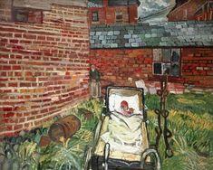 Baby in a Pram in a Garden | Art UK Art UK | Discover Artworks ...