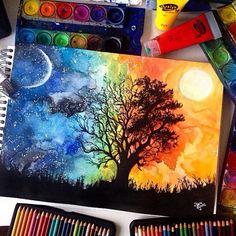 Fantastic Watercolor Pencils Works by German Artist Jana Grote
