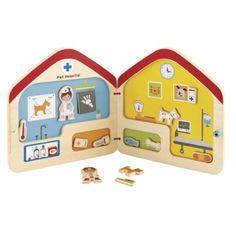 Hape Toys Visit the Vet Magnetic Book