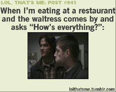When eating at a resturant