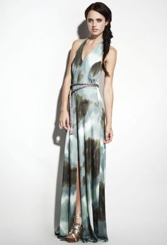 if Helen of Troy painted watercolor on motion film and hit fastforward Vivant Maxi Dress