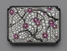 Probably by Lacloche Frères, Japanesque brooch, French, about 1925.