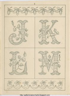 =         Carel created these wonderful letters which were based on Sajou 235.  They are her very first Alpha   as a little gift.  She has ...