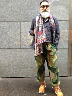 gerold brenner pants: camouflage vintage waitcoat: nigel cabourn shoes: grenson scarf: gift of David Vazquez