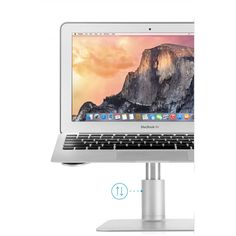 Twelve South HiRise for MacBook. Raise your MacBook to a comfortable working postion Macbook Pro Wallpaper, Macbook Desktop, Desktop Wallpapers, Macbook Accessories, Ipad Accessories, Stand And Deliver, Macbook Decal Stickers, Buy All The Things, Laptop Stand