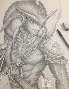 Prince Sidon Pencil Drawing by Mimibert