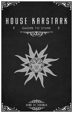 House Karstark. Game of Thrones house sigils by Tom Gateley. http://www.flickr.com/photos/liquidsouldesign/sets/72157627410677518/