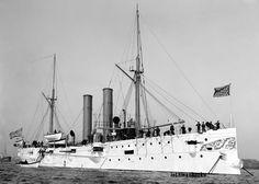 US USS Battleship Warship Marblehead Navy War Ship 1900 20x30 photo