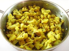 Curry House Cauliflower (Aloo Gobhi) from Raghavan Iyer's excellent book, Indian Cooking Unfolded