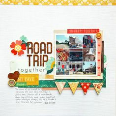 scrapbook layouts: close knit by deb duty