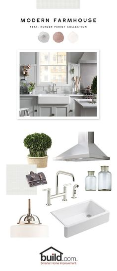 #kitchen #inspiration Love the look of this simple, modern farmhouse kitchen.