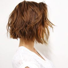 Baby bobs aren't just having a moment in Hollywood — everyone is obsessed with this versatile look. Here, a soft undercut gives the modern, edgy style a slightly playful side.