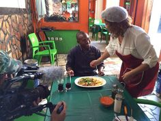 Zinha Esculudes at work at her Maputo restaurant called Gargalo in the Mahlangalene neighbourhood of Maputo
