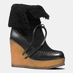 Love these!!!  Coach - Fall 2014 MOCCASIN BOOTIE