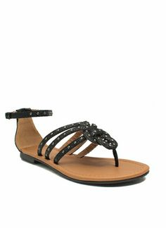 Forget Me Knot Embellished Sandals GO JANE