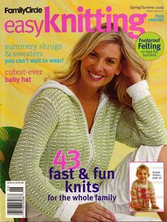 Easy Knitting Crochet Patterns Summer Sweaters Shrug Capelet Bikini Felting 2006 #FamilyCircle