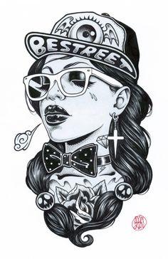 hip hop girl design