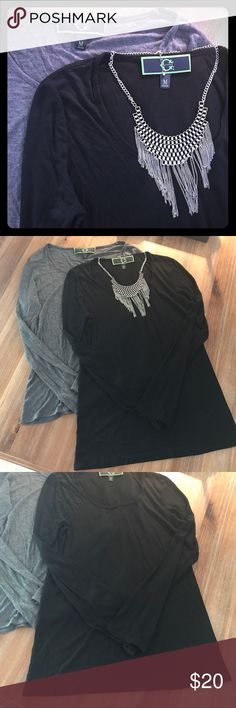 2 C. Wonder Long Sleeve Shirts Price for both. Great condition no stains or holes. Little wrinkled....great for under jackets, etc. C. Wonder  Tops