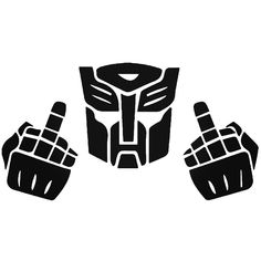 Transformers Middle Finger F U Vinyl Decal Sticker  BallzBeatz . com