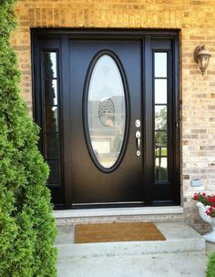 A Black Door with a Large Oval Window is what I would like for REDROC RANCH