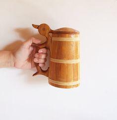 Gran Jarra sueca de cerveza // Jarra de madera por tiendanordica, $49.50