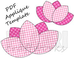 DIY with this lovely applique template.   Lotus Flower PDF Applique Template Pattern - DIY Onesie. $2.50, via Etsy.