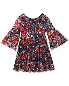 70aae653c8fb Rare Editions Tween Diva Big Girls  Floral - Print Lace Dress (12) Rare