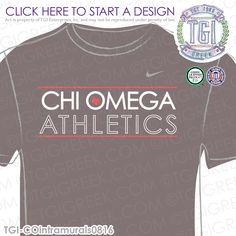 TGI Greek- Chi Omega- Greek Apparel #ChiOmega #XO #athletics