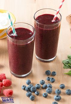 Welch's Purple Sunshine Smoothie recipe - nutritious smoothie with the delicious grape flavor of Welch's 100% grape juice