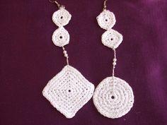 orecchini uncinetto + collana + bracciale, by maglieria magica, 11,50€ su misshobby.com