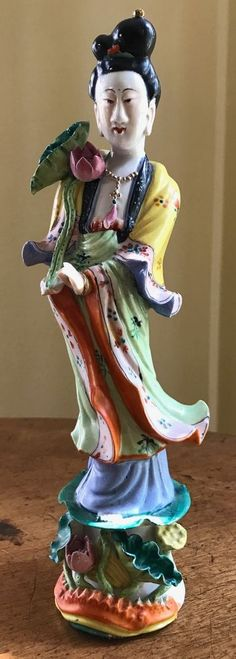 "Vintage Porcelain Figurine -- Chinese Lady -- 11"""