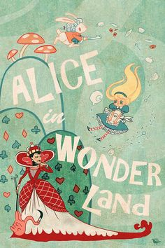 Alice in Wonderland Lit poster by theGorgonist on etsy
