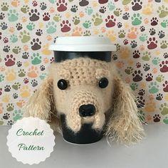 Dog Crochet Pattern - Mug Cozy Pattern - Amigurumi Patterns - Crochet Pattern Dog - Crochet Dog Pattern - Amigurumi Dog - Crochet Pattern by HookedbyAngel