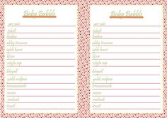 Free baby shower / baby sprinkle printables. baby babble