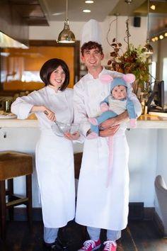 familia disfrazada personajes de Ratatouille
