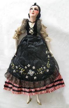 "Beautiful 32"" Vintage French Boudoir Doll Pre War 1939   eBay"