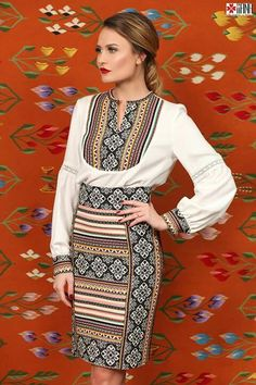 Modern adaption of the Romanian traditional blouse and skirt by IIANA Blouse And Skirt, Ethnic, Traditional, My Style, Skirts, Modern, Unique, How To Wear, Shopping