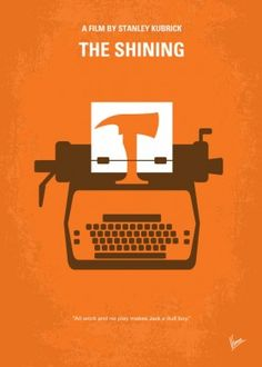 minimal minimalism minimalist movie poster film artwork cinema shining stanley kubrick nicholson jack king hotel axe typewriter
