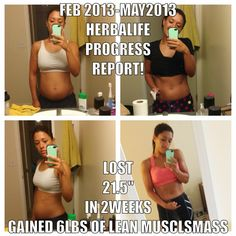 Before and after photos taking Herbalife, lose weight and fat, build muscle, to feel good and feel energized