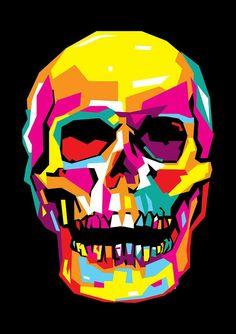 Skull Pop Art Wpap Digital Art by Ahmad Nusyirwan