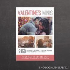 Valentine's mini sessions template