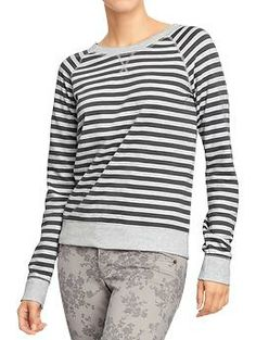 Women's Terry-Fleece Raglan Tops | Old Navy